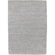 Hand-knotted Solid Grey Casual Yonkers Semi-Worsted Wool Rug (5'x8')