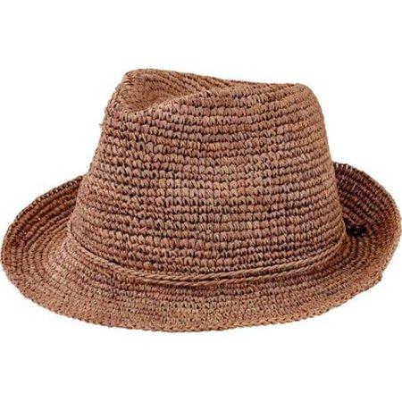 19944e0e1af287 San Diego Hat Company - Women's San Diego Hat Company Crochet Raffia Fedora  RHF6120 - Walmart.com