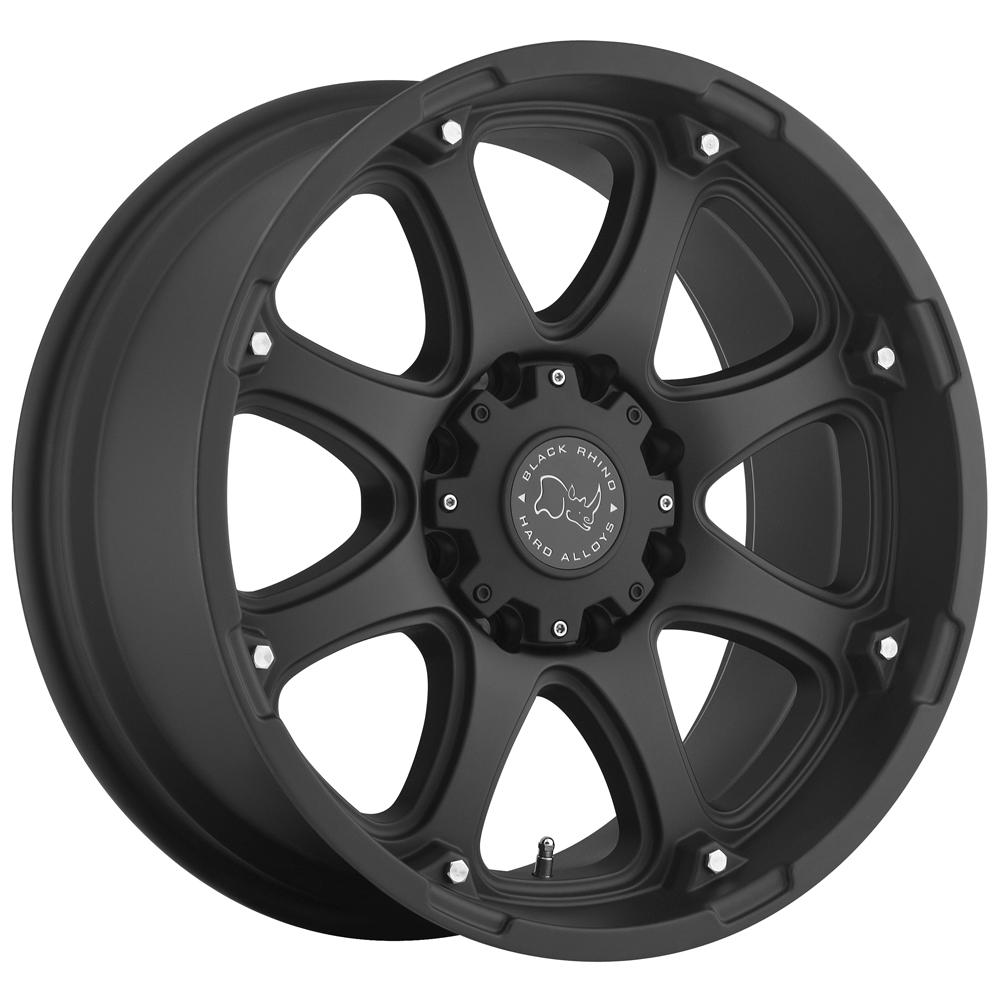 """Black Rhino Glamis 17x9 5x127 (5x5"""") -12mm Matte Black Wheel Rim"""