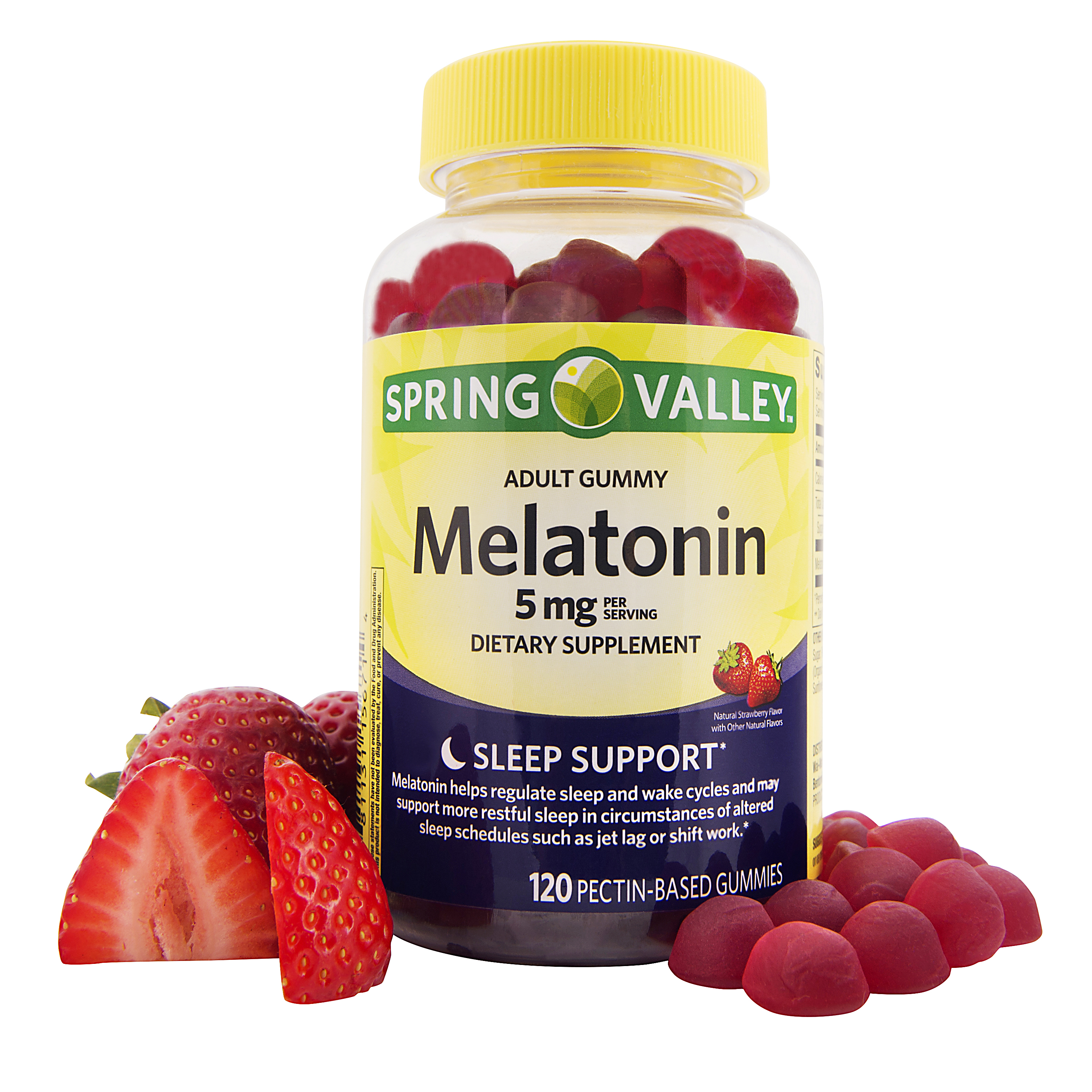 Spring Valley Melatonin Adult Pectin-Based Gummies, 5 mg, 120 count