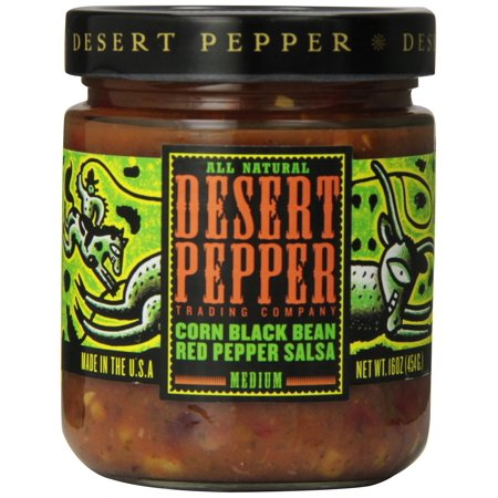 Desert Pepper, Black Bean, Roasted Pepper, and Corn Salsa, 16 oz Corn Black Bean and Red Pepper