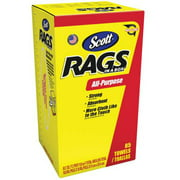 Scott Rags In-A-Box, All-Purpose, White, 85 Shop Towels Per Box