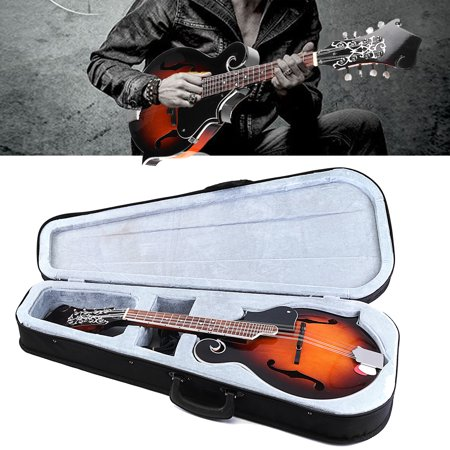 Vintage Stringed Instruments - 8 String Mandolin F-Style 24 Fret Acoustic Instrument Paulownia with Case Gifts