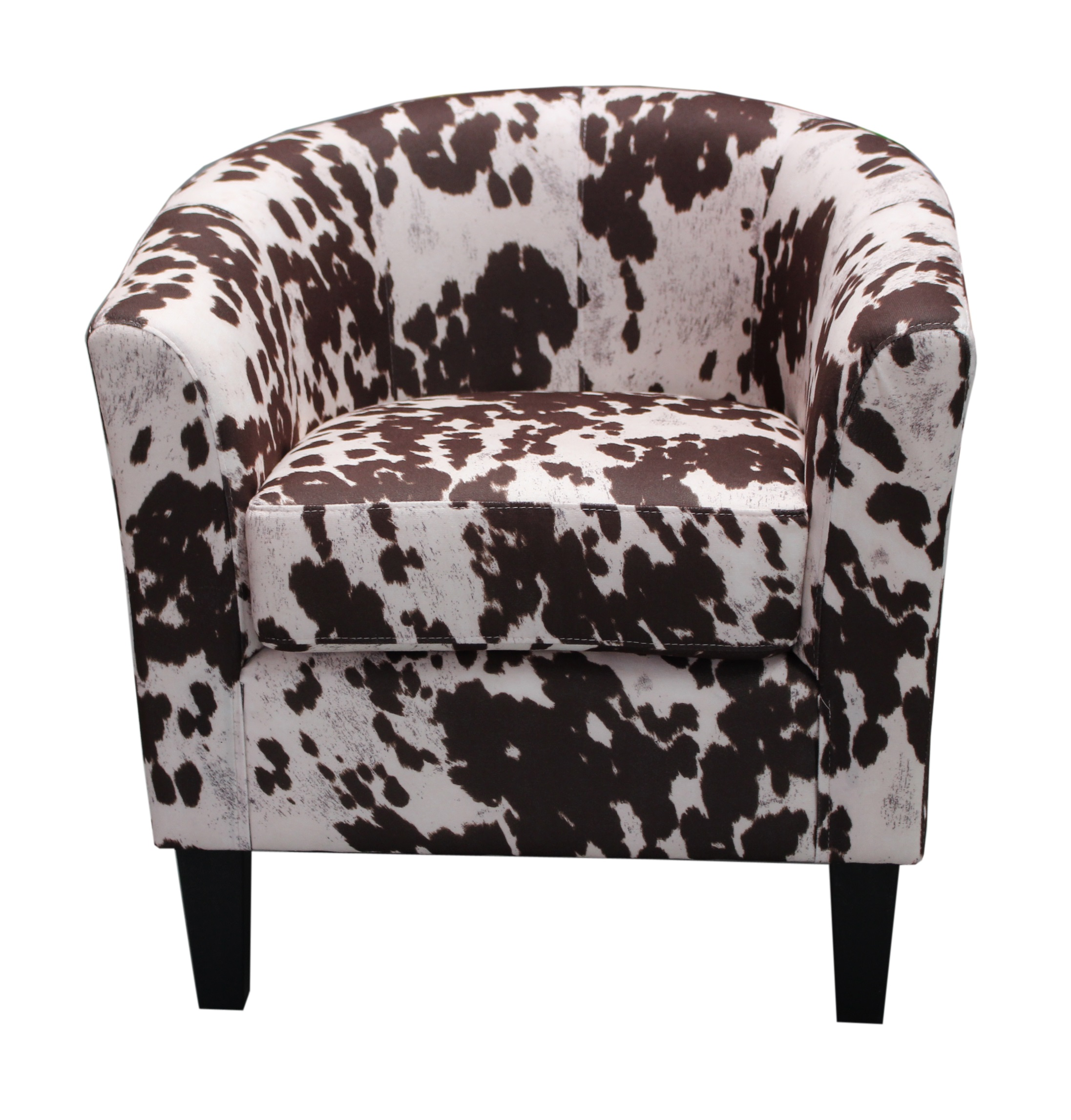 US Pride Furniture Contemporary Western Cowhide Print Upholstered Accent Chair