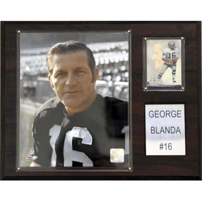 C & I Collectables 1215BLANDA NFL George Blanda Oakland Raiders Player Plaque