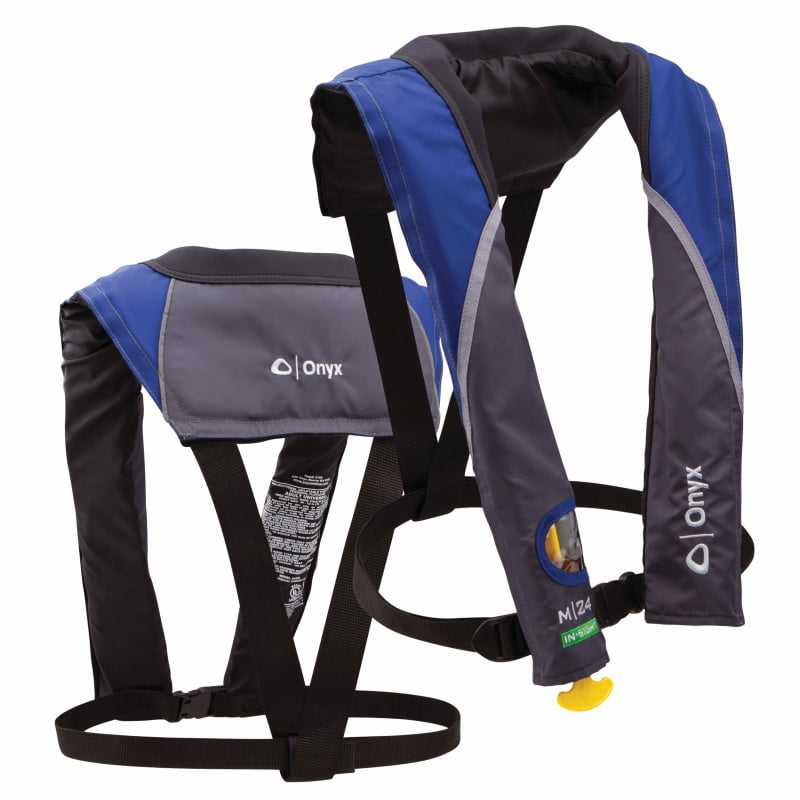 Onyx M-24 In-Sight Manual Inflatable Life Jacket Blue by Onyx