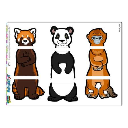 Chinese Interchangeable Animals Swap - China Red Panda Giant Panda Golden Monkey MAG-NEATO'S(TM) Refrigerator Magnet - Monkey Chinese
