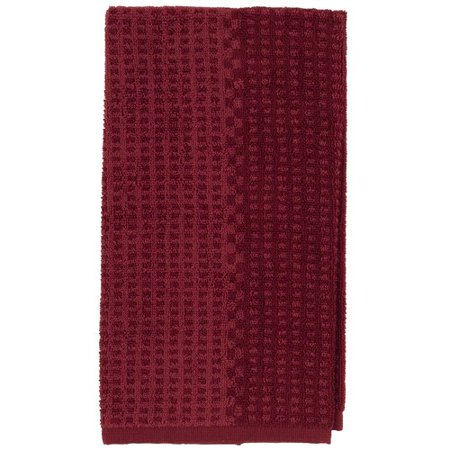 Better Homes And Gardens Two Tone Kitchen Towel Red