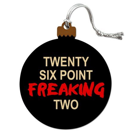 Twenty Six Point Freaking Two Marathon 26.2 Wood Christmas Tree Holiday