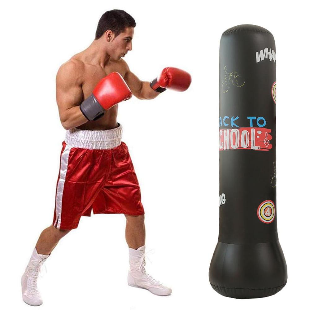 Inflatable Boxing Punching Bag Adults Children Freestanding Sandbag Fitness