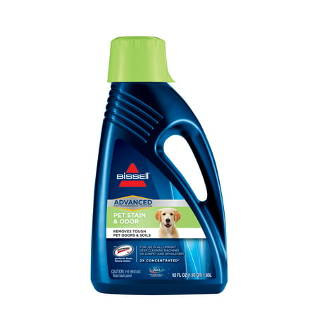(BISSELL 2X Pet Stain and Odor Advanced - Full Size Carpet Cleaning Formula, 62 oz, 88N2)