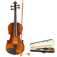 Zimtown New Music Profession Acoustic Violin 3/4 Full Size Natural  + Case + Rosin + Bow