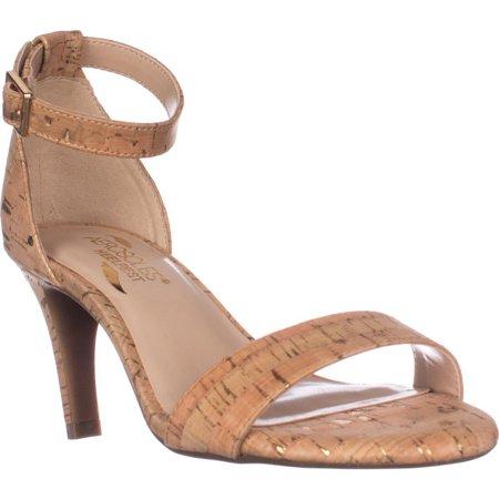 04f4e38b18f9 Aerosoles - Womens Laminate Ankle Strap Dress Sandals - Cork ...