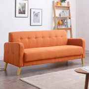 Mid-Century Modern Sofa with Stylish Button Tufted back and Single Cushion