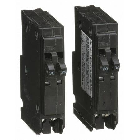 Plug In Circuit Breaker, QO, Number of Poles 2, 20/30 Amps, 120/240VAC,