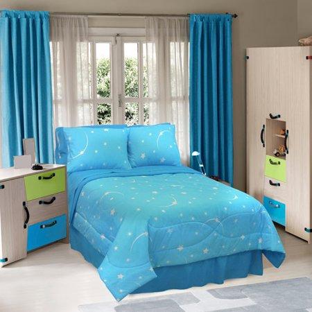 Veratex Glow In The Dark Stellar Bedding Comforter Set