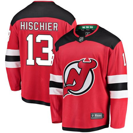 new arrival 95a14 9552f Nico Hischier New Jersey Devils NHL Fanatics Breakaway Home Jersey