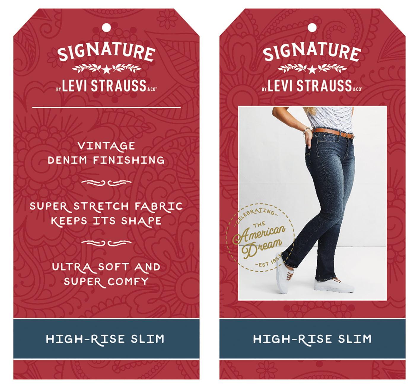 Women\'s High Rise Slim Jeans - Walmart.com
