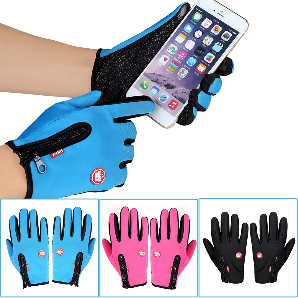 Women Men Motorcycling Touchscreen Winter Outdoor Riding Waterproof Gloves by konxa