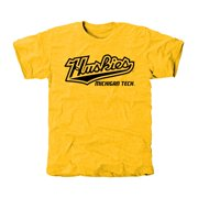 Michigan Tech Huskies Classic Wordmark Tri-Blend T-Shirt - Yellow