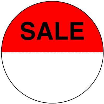 Uline 2-inch Sale Circle Labels