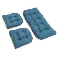 Blazing Needles  All-Weather Bench Cushion Set (Set of 3)