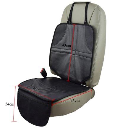 2-Pack Infant Baby Car Seat Protector Mat Cushion Anti Slip Waterproof Easy Clean, Black - image 2 of 5