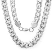24apos;' Stainless Steel 24 In. Curb Necklace