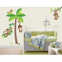 Mischievous Monkeys Wall Decal Sticker - 17x30