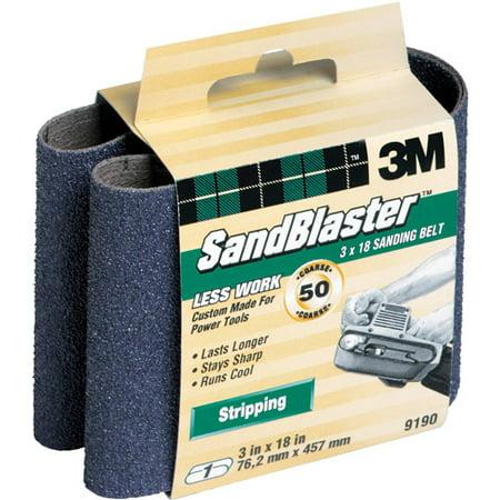 3M SandBlaster Sanding Belts, 3 in x 18 in