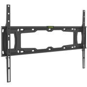 Barkan 32- 90 Fixed Flat / Curved TV Wall Mount, Auto-Locking Patented, Black, Up to 132 lbs, Lifetime Warranty