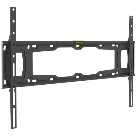 "Barkan 32""- 90"" Fixed Flat / Curved TV Wall Mount, Auto-Locking Patented, Black, Up to 132 lbs, Lifetime Warranty"