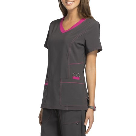 06a9a97a171 Women's Fashion Collection Color Accent V-Neck Scrub Top - Best ...
