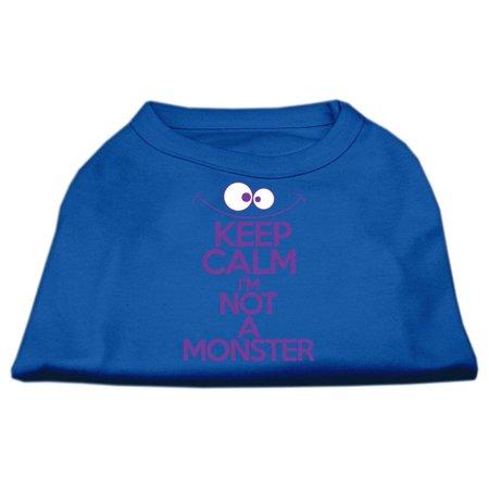 mirage 51-154 xsbl keep calm screen print dog shirt blue xs