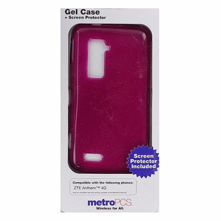 Metropcs Soft Gel Case For Zte Anthem 4G   Dark Pink