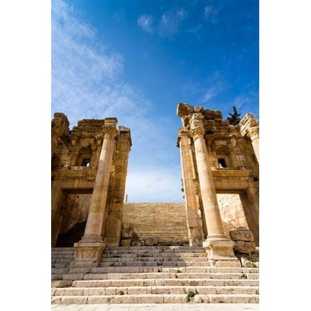 Propilaeum Of The Temple Of Artemis Jerash Gerasa Jordan Canvas Art   Nico Tondini  Danitadelimont  24 X 36