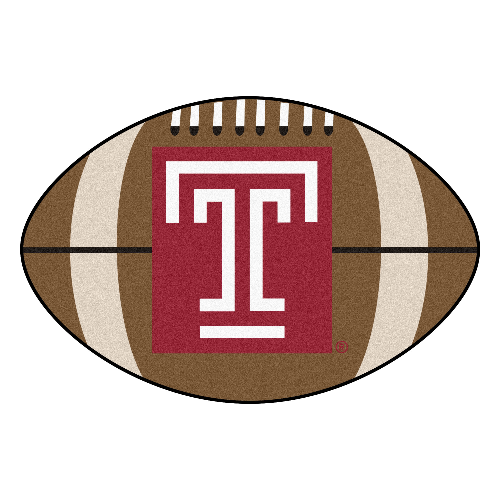 """Temple Football Rug 20.5""""x32.5"""""""