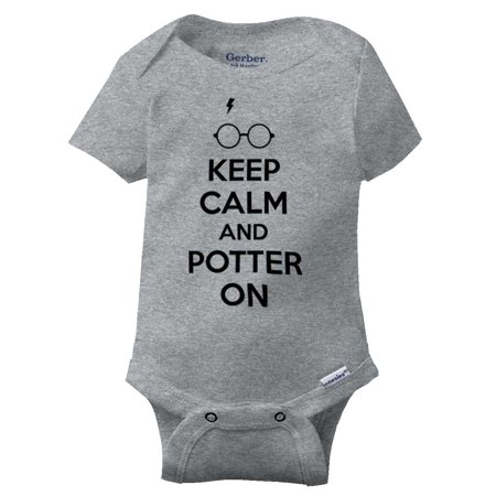 Keep Calm Harry Potter On Funny Shirt Cool Gift Cute Hogwarts Gerber - Funny Breastfeeding Onesies