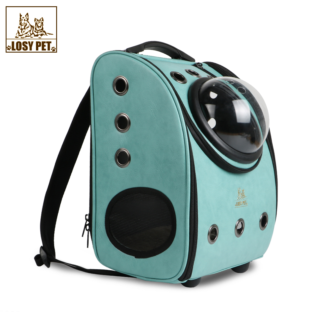 Detachable Large Pet Dog Bubble Carrier Backpack Breathable Airline Approved Carrier Mobile Bed for Cats and Dogs