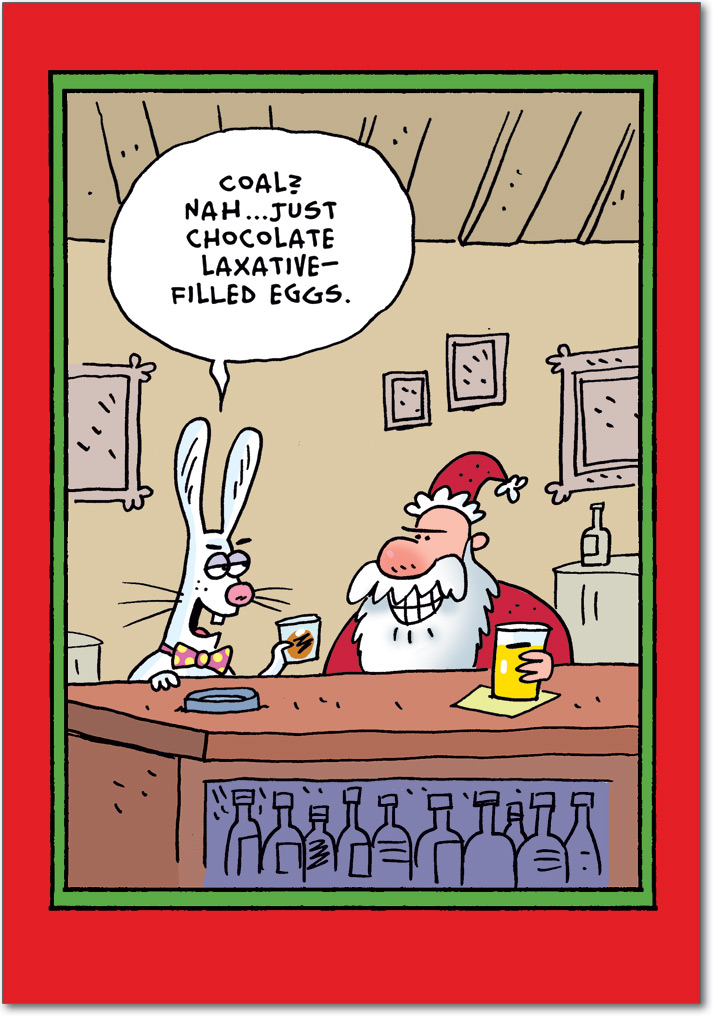 santa easter bunny laxative eggs  12 funny adults