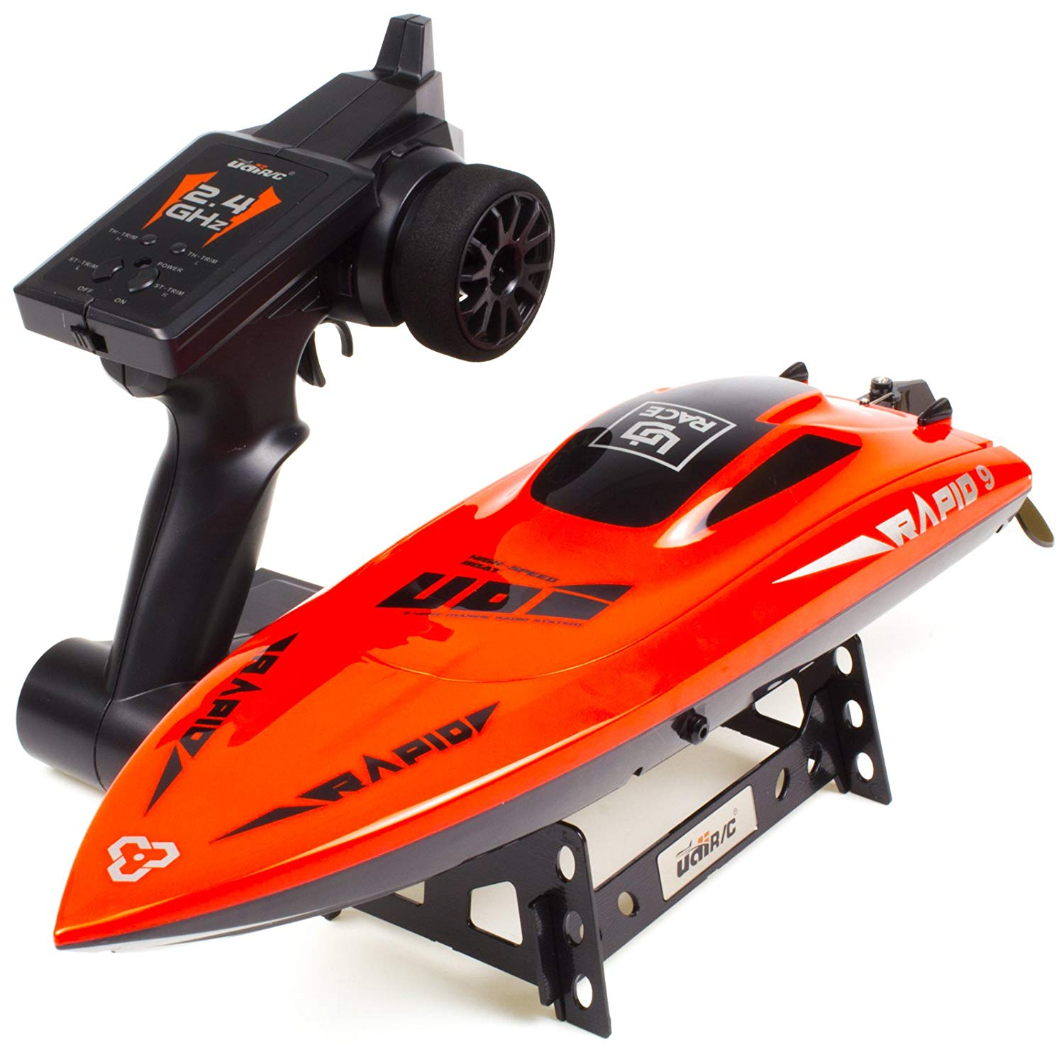 UDIRC 2.4Ghz RC Racing Boat 30KM/H High Speed Electronic Remote Control Boat for Kids/Audlt