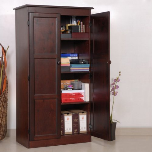 wood kitchen storage cabinets concepts in wood multi purpose storage cabinet pantry 29403