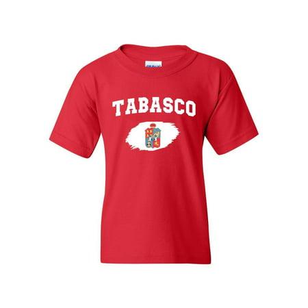 Mexico State of Tabasco Unisex Youth Kids T-Shirt (Tabasco T-shirts)