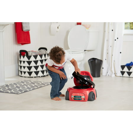 The First Years Training Wheels Racer Potty Training Toilet, Toddler Toilet Training Set