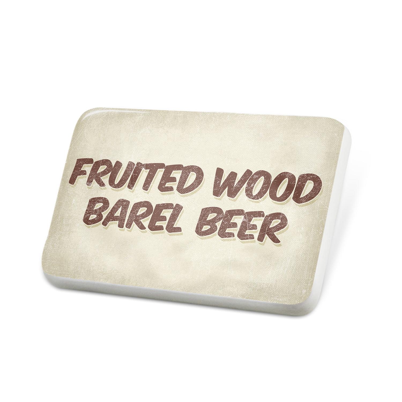 Porcelein Pin Fruited Wood barel Beer, Vintage style Lapel Badge – NEONBLOND