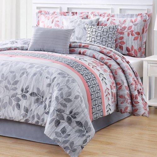 Bungalow Rose Credle 7 Piece Reversible Comforter Set
