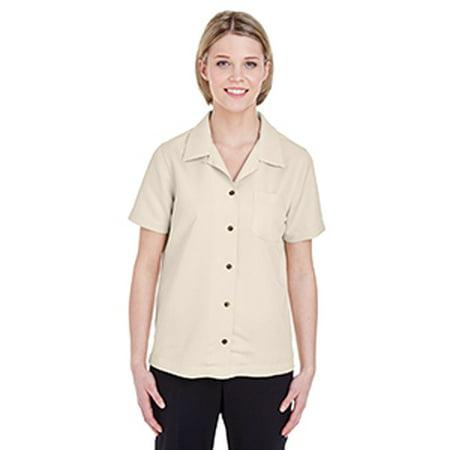 8981 Uc Ladies Solid Camp Shirt Stone L - image 1 de 1
