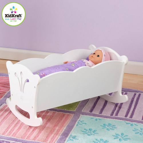 KidKraft Lil' Doll Wooden Cradle
