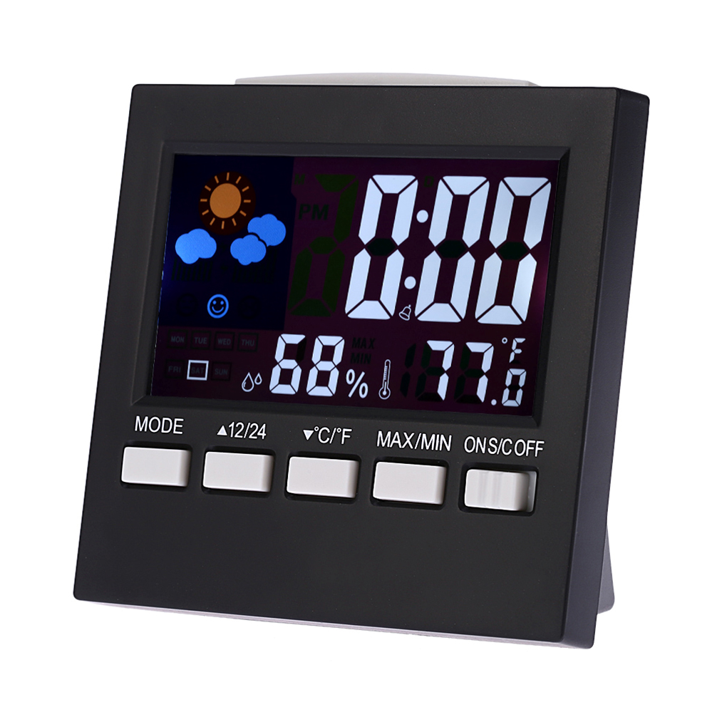 Multifunctional Digital Colorful LCD Thermometer Hygrometer