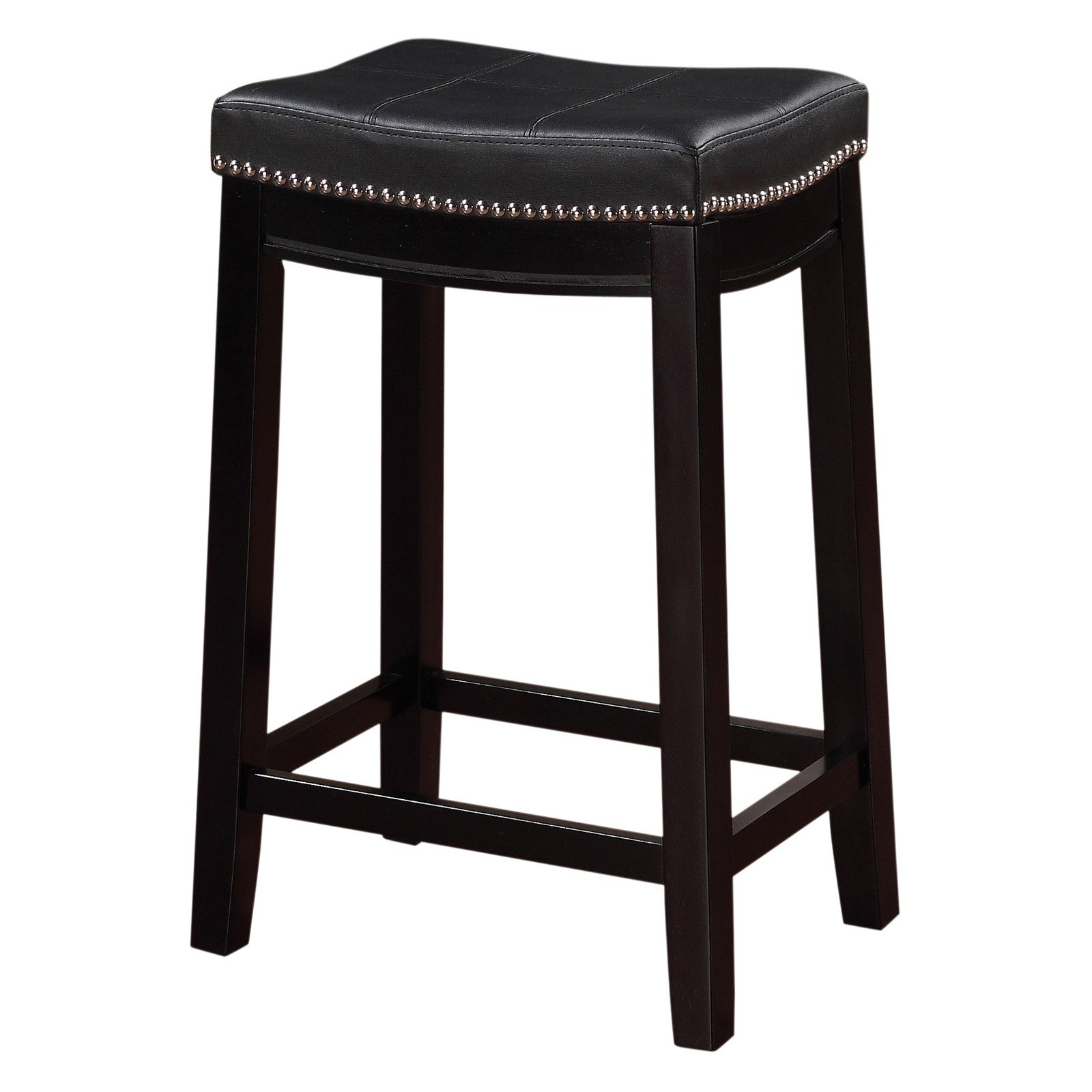 Linon Claridge Counter Stool Black Walmart Com